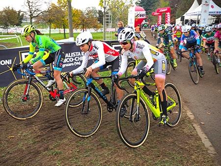 la partenza del ciclocross
