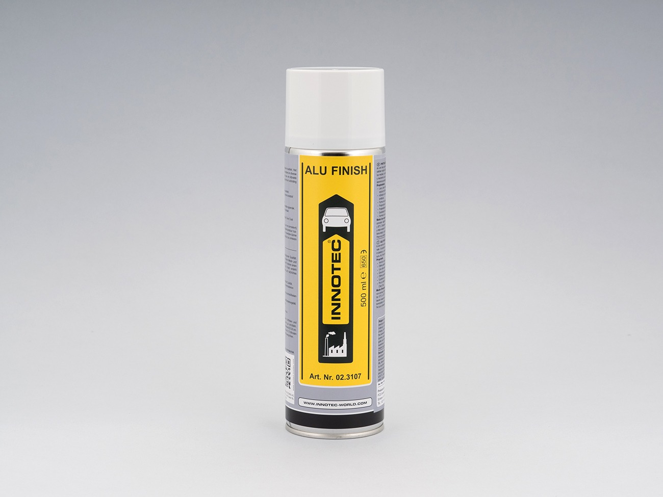 Vernice spray di color grigio alluminio ad asciugatura rapida