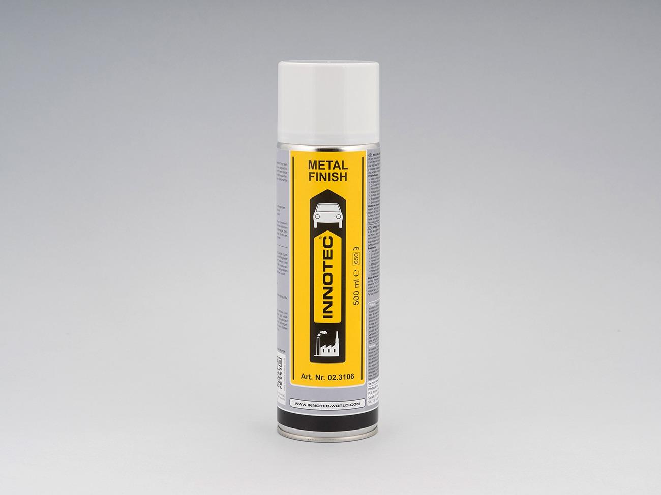 Vernice spray color grigio metallizzato, rivestimento resistente agli urti per plastiche e metalli