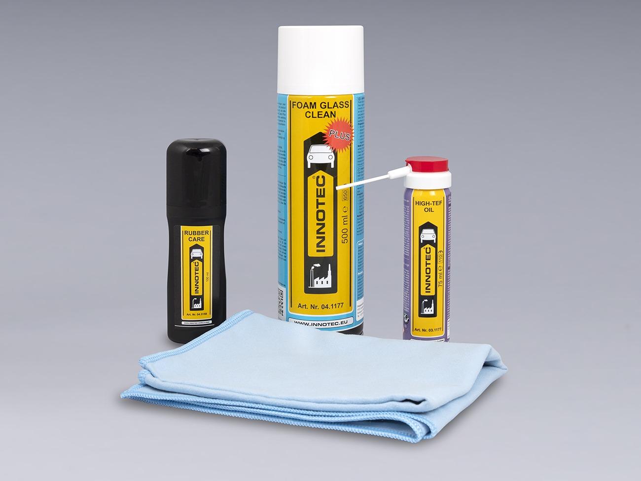 Kit professionale per la manutenzione, protezione e pulizia dei serramenti